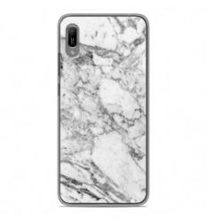 Coque en silicone Huawei Y6 2019 - Marbre Blanc