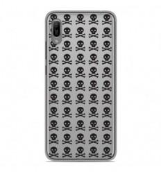 Coque en silicone Huawei Y6 2019 - Skull Noir