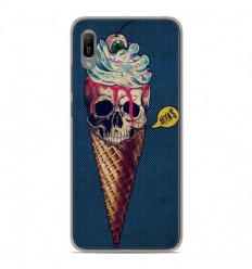Coque en silicone Huawei Y6 2019 - Ice cream skull blue