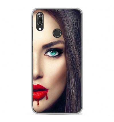 Coque en silicone Huawei Y7 2019 - Lèvres Sang