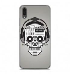 Coque en silicone Huawei Y9 2019 - Skull Music