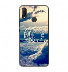 Coque en silicone Huawei P Smart Plus - Lune soleil
