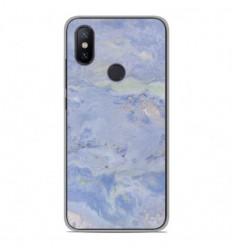 Coque en silicone Xiaomi Mi A2 - Marbre Bleu