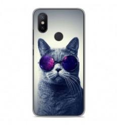 Coque en silicone Xiaomi Mi A2 - Chat à lunette