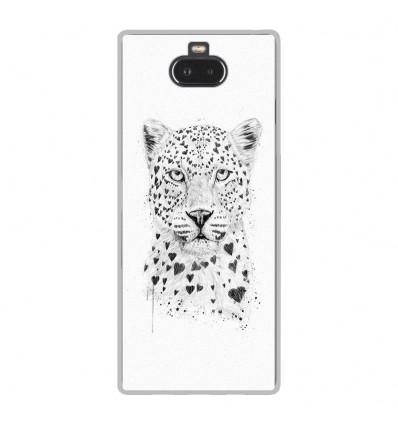 Coque en silicone Sony Xperia 10 - BS Love leopard