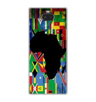 Coque en silicone Sony Xperia 10 - Drapeau Afrique