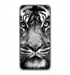 Coque en silicone Orange Rise 54 - Tigre blanc et noir
