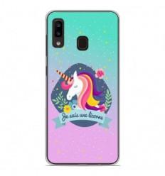 Coque en silicone Samsung Galaxy A20 / A30 - Je suis une licorne