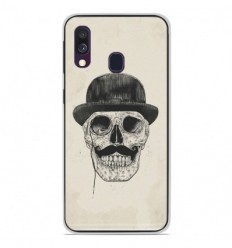 Coque en silicone Samsung Galaxy A40 - BS Class skull