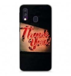 Coque en silicone Samsung Galaxy A40 - Thank You