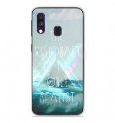 Coque en silicone Samsung Galaxy A40 - Visionary