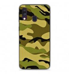 Coque en silicone Samsung Galaxy A40 - Camouflage
