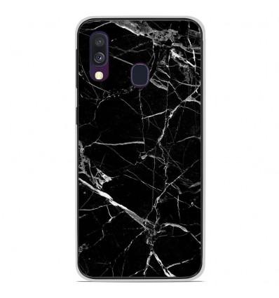 coque silicone samsung a40 marbre