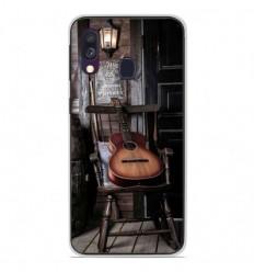 Coque en silicone Samsung Galaxy A40 - Guitare