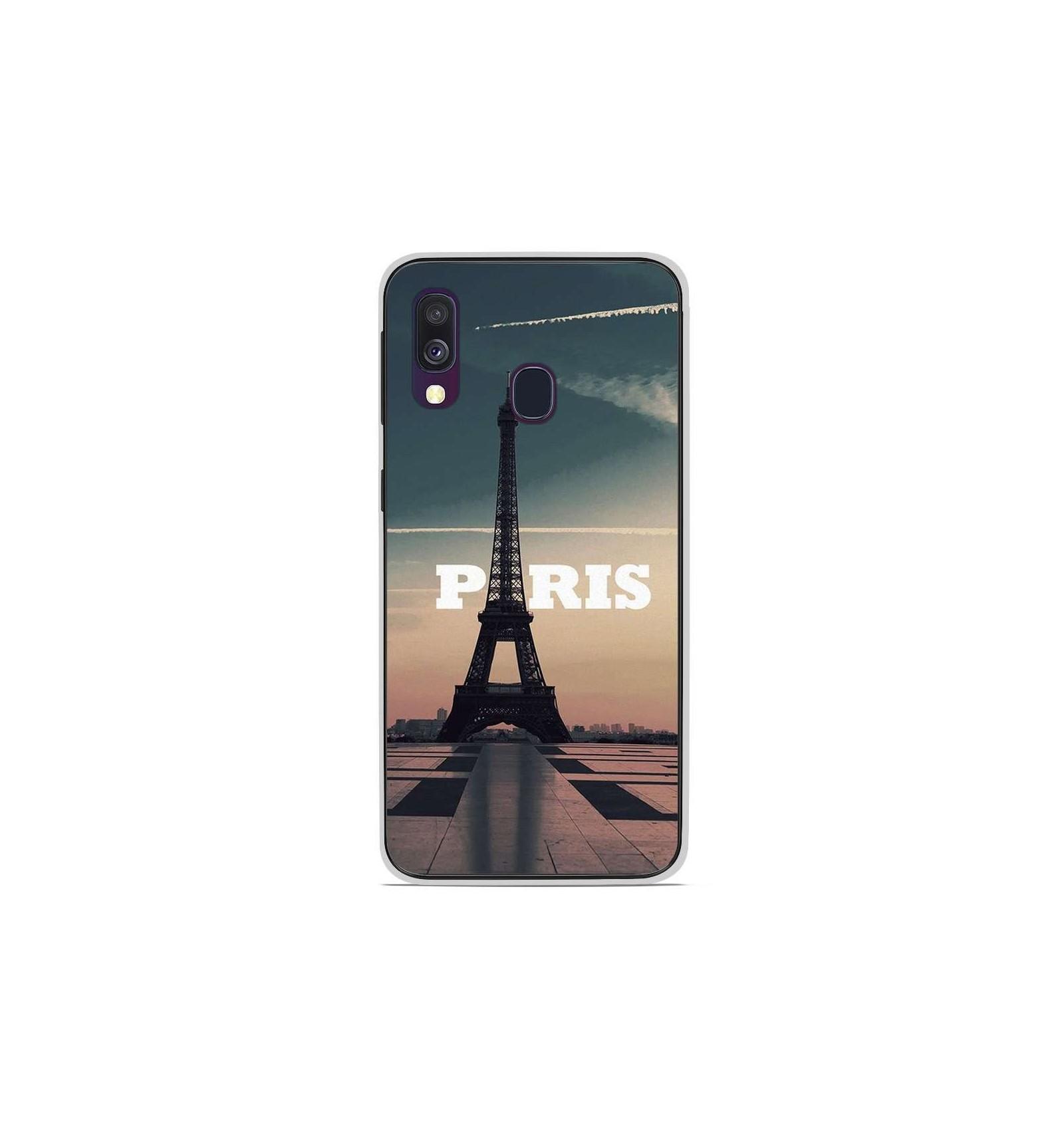 Coque en silicone Samsung Galaxy A40 - Paris