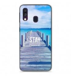 Coque en silicone Samsung Galaxy A40 - Stay positive