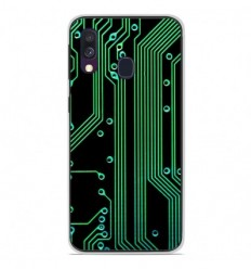 Coque en silicone Samsung Galaxy A40 - Texture circuit geek
