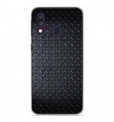 Coque en silicone Samsung Galaxy A40 - Texture metal