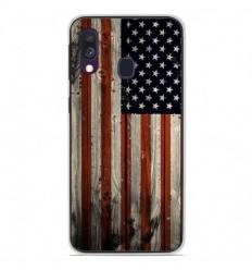 Coque en silicone Samsung Galaxy A40 - USA Hood