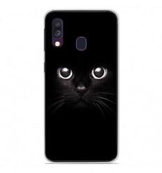 Coque en silicone Samsung Galaxy A40 - Yeux de chat