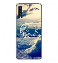 Coque en silicone Samsung Galaxy A50 - Lune soleil