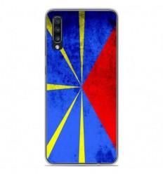 Coque en silicone Samsung Galaxy A70 - Drapeau La Réunion