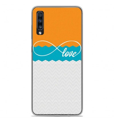 Coque en silicone Samsung Galaxy A70 - Love Orange