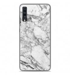 Coque en silicone Samsung Galaxy A70 - Marbre Blanc