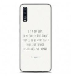 Coque en silicone Samsung Galaxy A70 - Citation 01