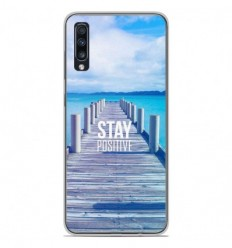 Coque en silicone Samsung Galaxy A70 - Stay positive