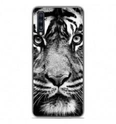 Coque en silicone Samsung Galaxy A70 - Tigre blanc et noir