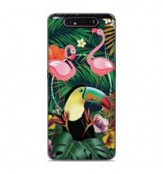 Coque en silicone Samsung Galaxy A80 / A90 - Tropical Toucan