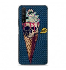 Coque en silicone Huawei Honor 20 - Ice cream skull blue