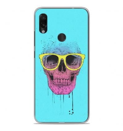 Coque en silicone Xiaomi Redmi Note 7 / Note 7 Pro - BS Skull glasses