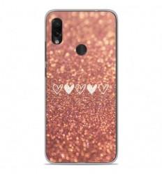 Coque en silicone Xiaomi Redmi Note 7 / Note 7 Pro - Paillettes coeur
