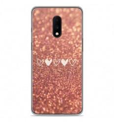 Coque en silicone OnePlus 7 - Paillettes coeur
