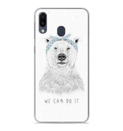Coque en silicone Samsung Galaxy M20 - BS We can do it