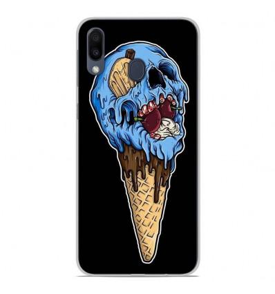 Coque en silicone Samsung Galaxy M20 - Ice cream skull