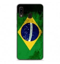 Coque en silicone Samsung Galaxy A20e - Drapeau Brésil