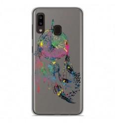 Coque en silicone Samsung Galaxy A20e - Dreamcatcher Gris