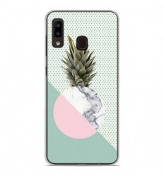 Coque en silicone Samsung Galaxy A20e - Ananas marbre