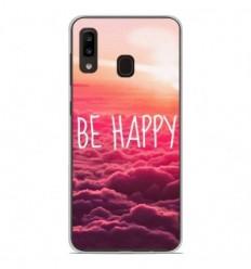 Coque en silicone Samsung Galaxy A20e - Be Happy nuage