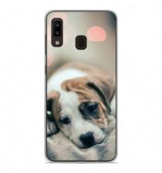 Coque en silicone Samsung Galaxy A20e - Chiot rêveur
