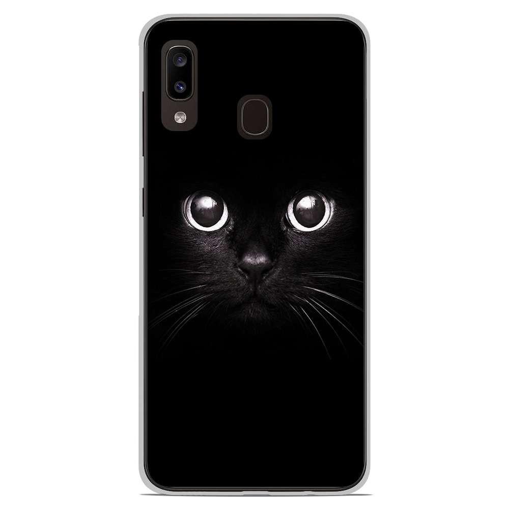 Coque en silicone Samsung Galaxy A20e - Yeux de chat