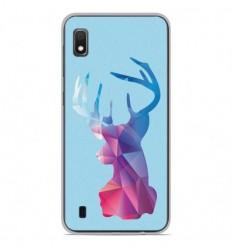 Coque en silicone Samsung Galaxy A10 - Cerf Hipster Bleu
