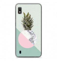 Coque en silicone Samsung Galaxy A10 - Ananas marbre