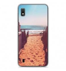 Coque en silicone Samsung Galaxy A10 - Chemin de plage