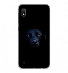 Coque en silicone Samsung Galaxy A10 - Chien noir