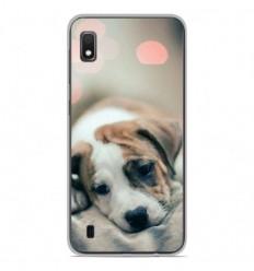 Coque en silicone Samsung Galaxy A10 - Chiot rêveur