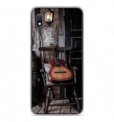 Coque en silicone Samsung Galaxy A10 - Guitare